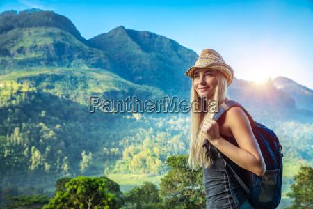 woman traveling