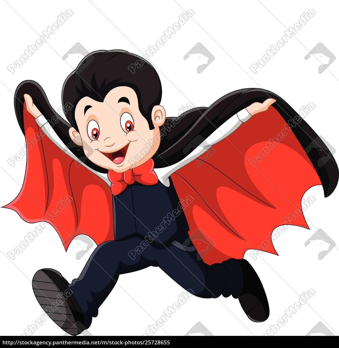 Cartoon Happy Vampire Isolated On White Background Stock Photo 25728655 Panthermedia Stock Agency