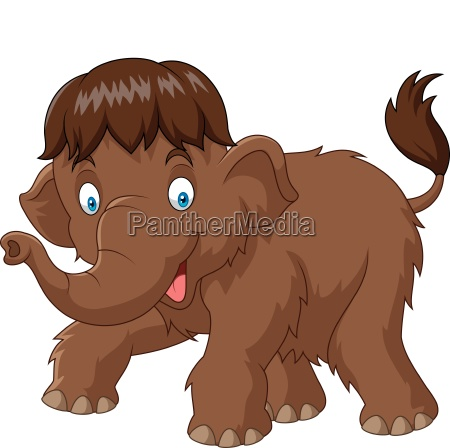cartoon baby mammoth