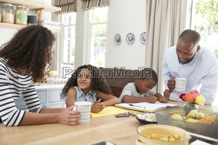 young black family together in their