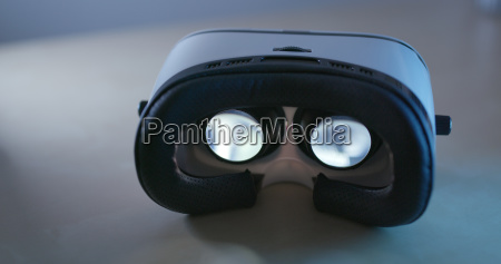 virtual reality device equipment at night