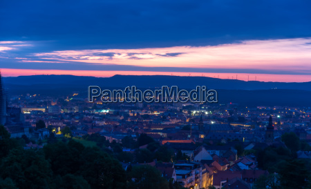 view over bamberg at sunrise