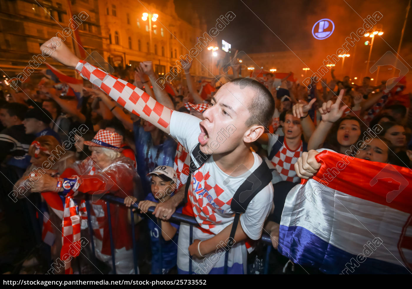 Rights-managed image 25733552 - Croatian fans