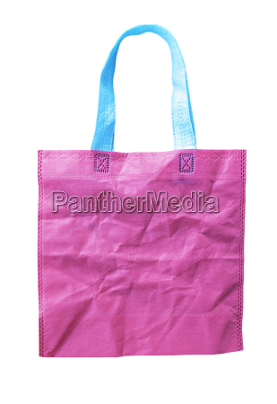 pink crumple shopping bag isolated