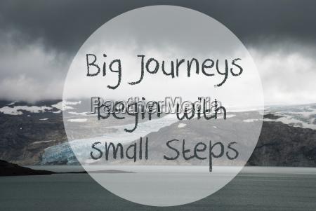 glacier lake big journeys begin with