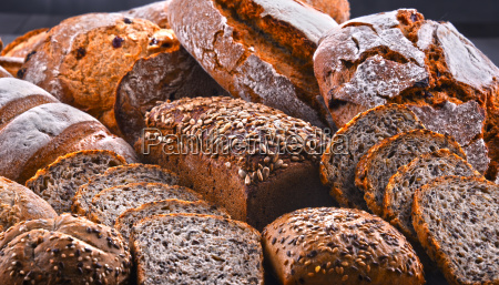 composition with assorted bakery products