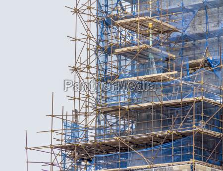 scaffolding closeup