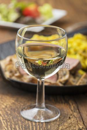 white wine and swabian pork tenderloin