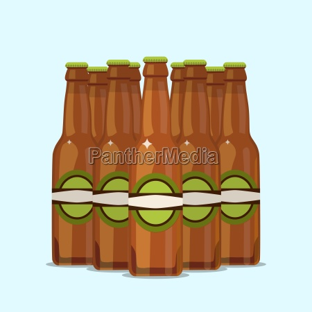 group of attractive beer bottles on