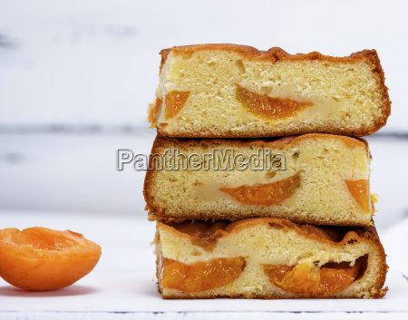 a stack of baked square slices