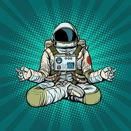 yoga astronaut lotus pose meditation and