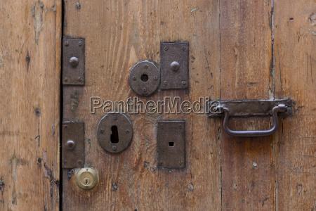 old lock door