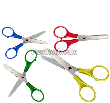 scissors set isolated on white