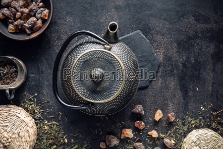 image of traditional eastern teapot