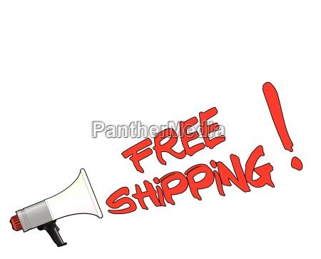 free shipping megaphone