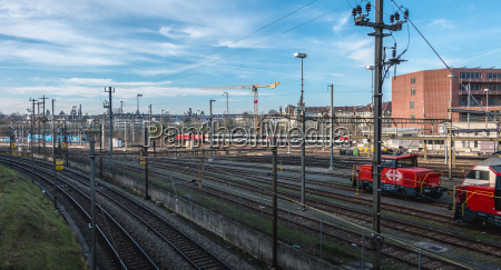 view of the basel train station