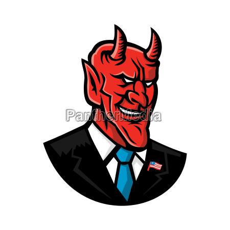 devil american businessman mascot