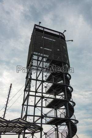 the large steel lookout tower on