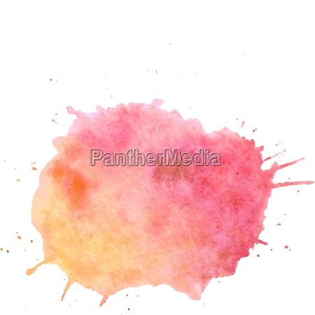 watercolor paint blob vector text box