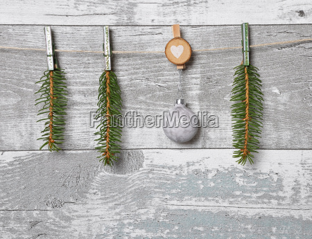 weathered wooden wall with christmas tree