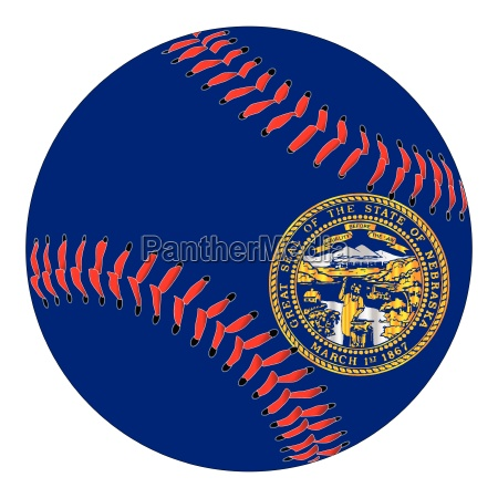 nebraska flag baseball