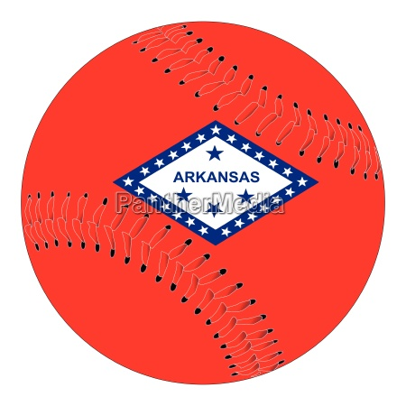 arkansas flag baseball