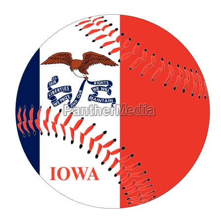 iowa flag baseball