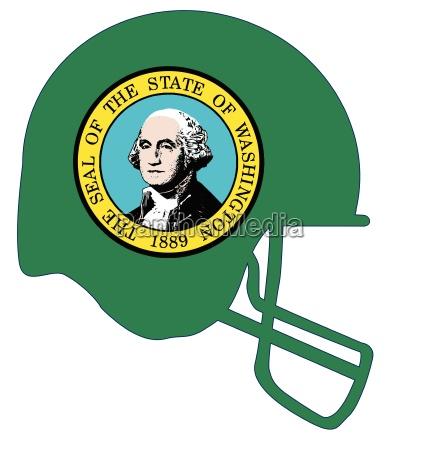 washington state flag football helmet