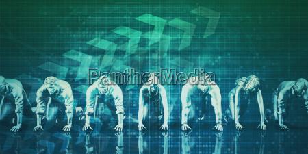 businessmen teamwork running together