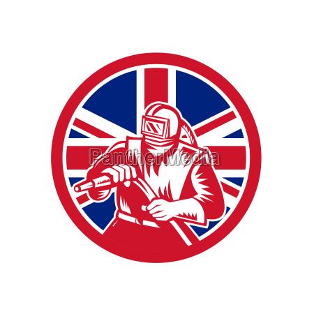 british sandblaster union jack flag