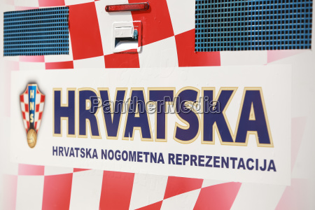 poster with croatian football association logo
