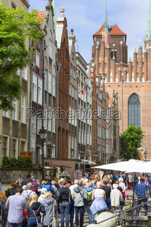 mariacka street with colorful facades of