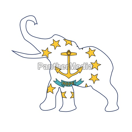 rhode island republican elephant flag