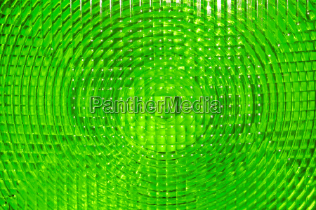 abstract background of green faceted plastic