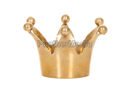 royal golden crown isolated on white