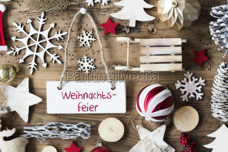 rustic flat lay weihnachtsfeier means christmas