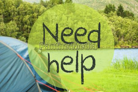 lake camping text need help