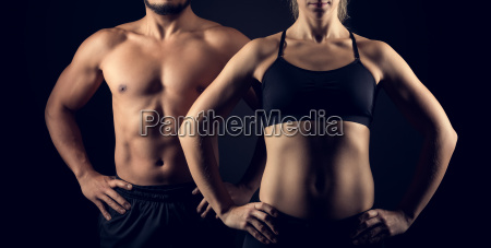 perfectly shaped female and male upper