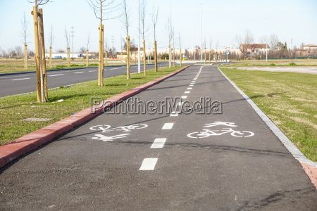 pedestrian and bicycle riders sharing the