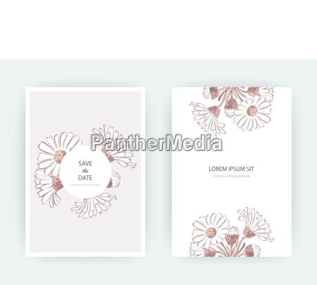 card flowers calendula chrysanthemum chamomile daisy