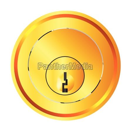 brass front door lock