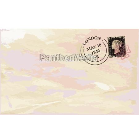 old stamped envelope background