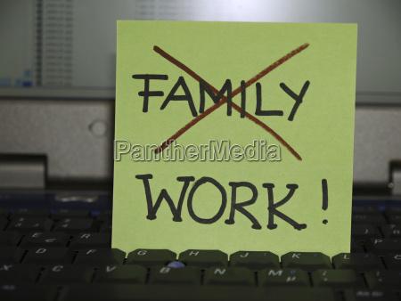 memo note on notebook familiy crossed