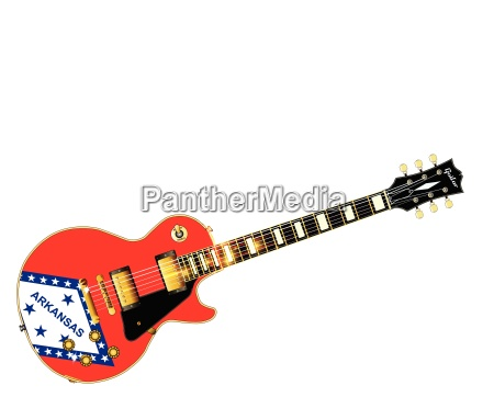 arkansas state flag guitar