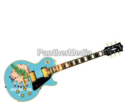 oklahoma state flag guitar