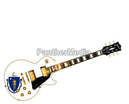 massachusetts state flag guitar