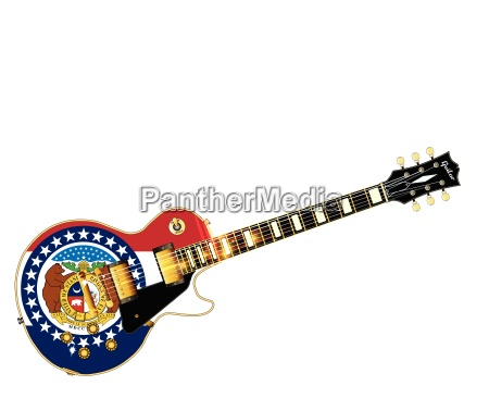 missouri state flag guitar