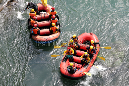 water rafting on the rapids of