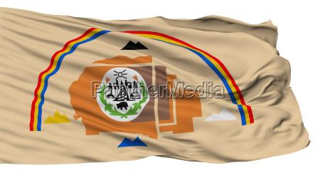 arizona navajo indian flag isolated on