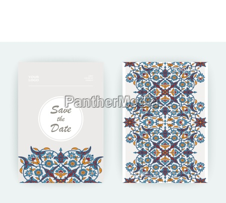 stampa di decorazione floreale arabesco vettore